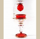 Egyptian Hand Blown Glass Oil burner - Red