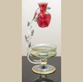 Egyptian Hand Blown Glass Oil burner - Apple