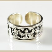 Egyptian  Gods & Kings Silver Ring