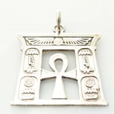 Ankh Temple Silver Pendant