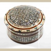 Round Mother of Pearl Jewelry Box