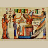 King Ramsses & Protective Isis Papyrus