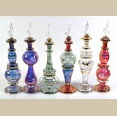 Set of 6 pieces of small Handmade perfume bottles