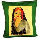 Handmade embroidered Modern Cushion Cover