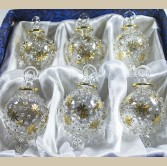 "1.4"" Blown Glass Egyptian Christmas Ornaments - Set of 6 Ornaments"