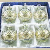 "2.16"" Blown Glass Egyptian Christmas Ornaments - Set of 6 Ornaments"