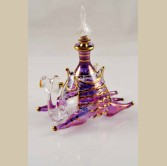 Sitting Camel Glass Decorative Perfume Bottle- Violet