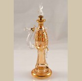Standing Camel  Glass Decorative Perfume Bottle - Yellow