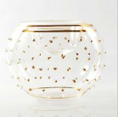 white Candle Holder - Gold