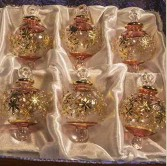 "1.6"" Blown Glass Egyptian Christmas Ornaments - Set of 6 Ornaments"