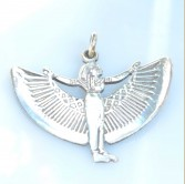 Winged Isis Silver Pendant